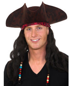 Caribbean Pirate Hat w/ Dreads