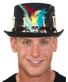 Voodoo Witch Doctor Top Hat