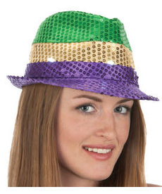 Mardi Gras Sequin Fedora Light-Up Hat