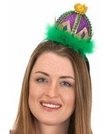 Mardi Gras Crown Headband