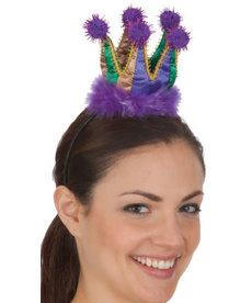 Mini Mardi Gras Crown Headband