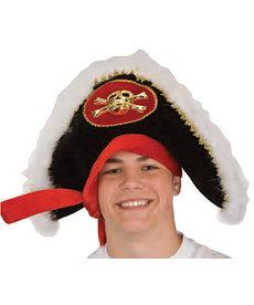 Pirate Hat w/ Skull & Crossbones