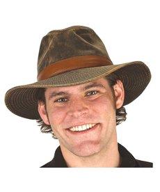 Faux Leather Safari Hat