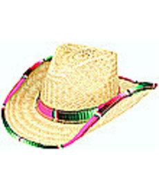 Western Hat w/ Serape Trim