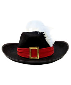 Felt Musketeer Hat w/ Feather