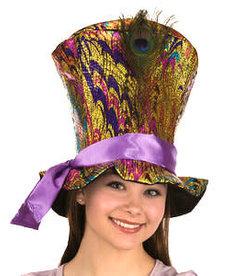 Metallic Peacock Top Hat