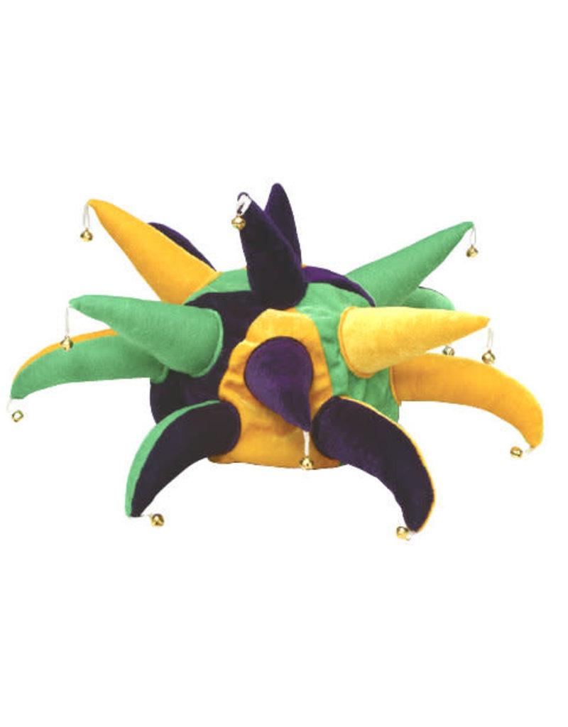 Mardi Gras Jester Hat w/ Points & Bells