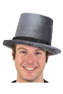 """6"""" Velvet Top Hat w/ Black Band"""