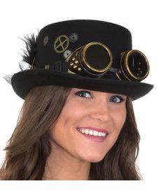 Steampunk Hat w/ Goggles