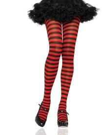 Leg Avenue Plus Size: Nylon Striped Tights
