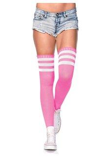 Leg Avenue 3 Stripes Athletic Ribbed Thigh Highs