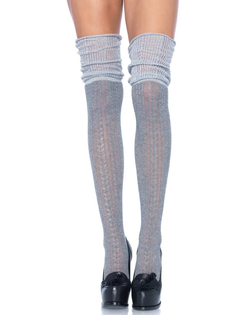 Leg Avenue Acrylic Pointelle Over The Knee Socks