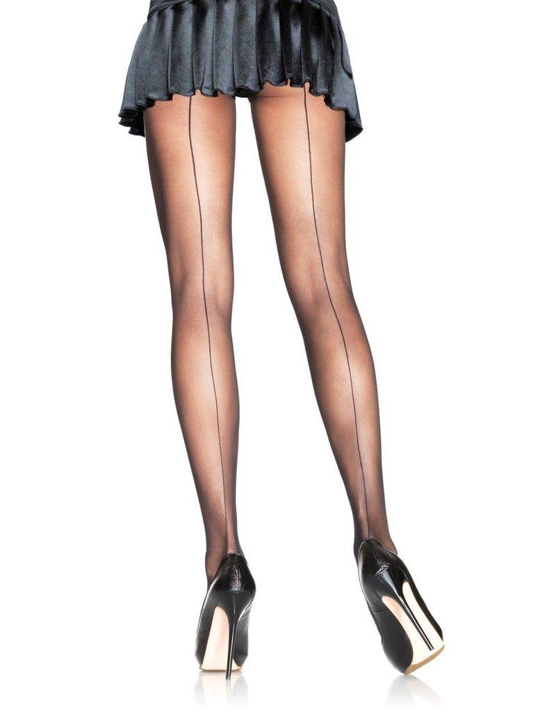 Leg Avenue Backseam Sheer Pantyhose - Black