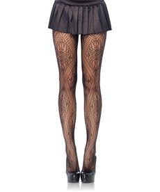 Leg Avenue Florentine Lace Pantyhose - Black