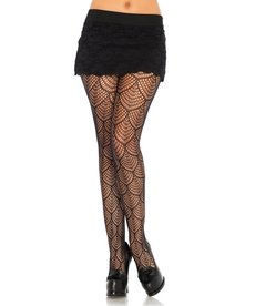 Leg Avenue Mermaid Lace Tights - Black