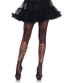 Leg Avenue Itsy Bitsy Spider Net Pantyhose - Black