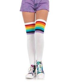 Leg Avenue Over The Rainbow Thigh Highs - Rainbow