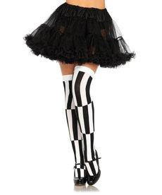 Leg Avenue Optical Illusion Thigh Highs - Black/White