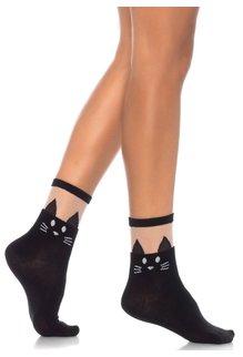 Leg Avenue Black Cat Anklet - Black