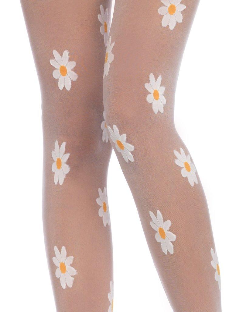 Leg Avenue Daisy Pantyhose - White