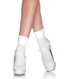 Leg Avenue Satin Cuff Anklets - White