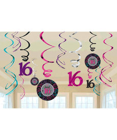 Swirl Decorations  - Sweet 16