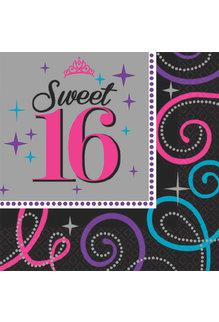 Beverage Napkins - Sweet 16 (16ct.)