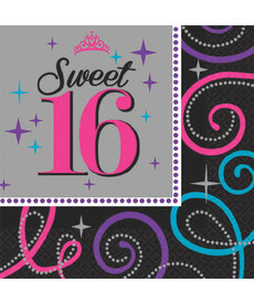 Beverage Napkins - Sweet 16 (16ct.)