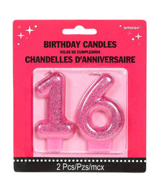 Sweet 16 Glitter Candle