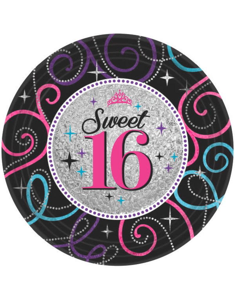 "9"" Plates - Sweet 16 (8ct)"