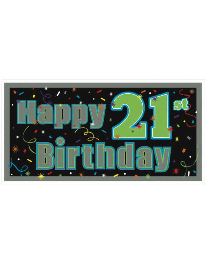21st Happy Birthday Flashing Necklace