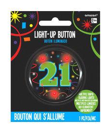 Light Up Button - 21st Birthday