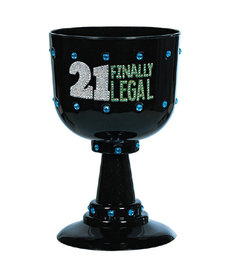 """21 Finally Legal"" Chalice - Black"