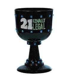 """21 Finally Legal"" Chalice - Black"