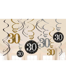 Swirl Decorations - 30th