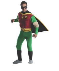Rubies Costumes Men's Deluxe Robin Muscle Chested Costume (Teen Titans)
