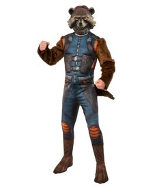 Rubies Costumes Men's Deluxe Rocket Raccoon Costume with Muscle Chest