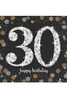 Beverage Napkins - 30th Sparkling Celebration (16ct.)