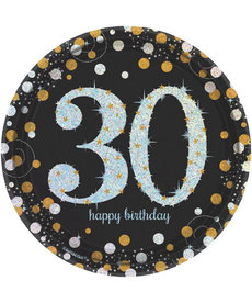 "7"" Plates: Sparkling Celebration - 30th Birthday"