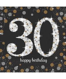 Luncheon Napkins: Sparkling Celebration - 30th Birthday