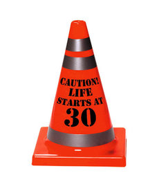 "30th Birthday Cone ""Caution! Life Starts At 30"""