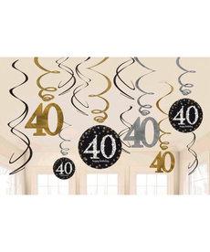 Swirl Decorations - 40th
