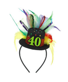 Top Hat Headband - 40th
