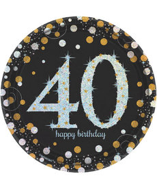 "7"" Plates: Sparkling Celebration - 40th Birthday"