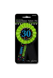 Award Birthday Ribbon - 30
