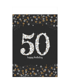 Rectangle Table Cover: Sparkling Celebration - 50th