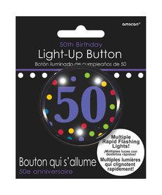 Light Up Button - 50th Birthday