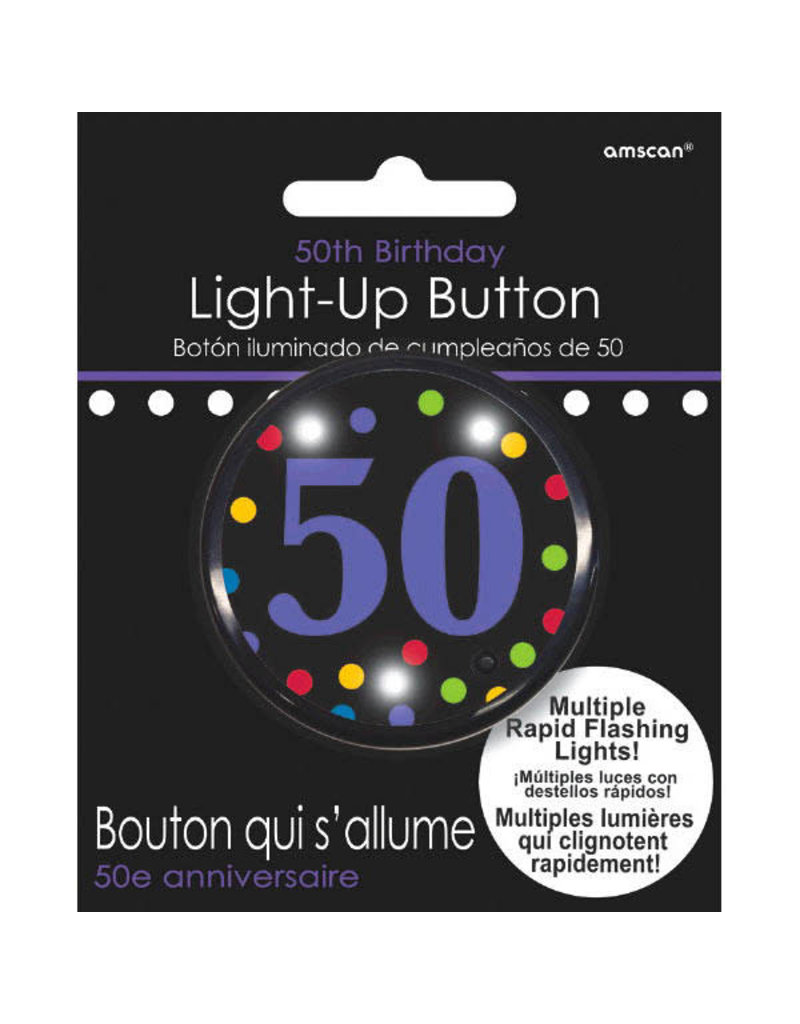Light Up Button - 50th Birthday