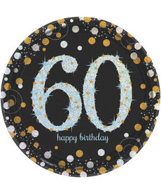 "7"" Plates: Sparkling Celebration - 60th Birthday"