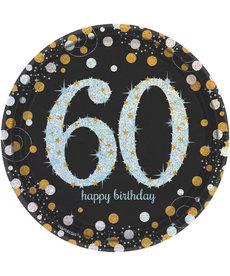 """7"""" Plates: Sparkling Celebration - 60th Birthday"""